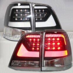 Стоп-сигналы черные Toyota Land Cruiser 200 (2007-2015)