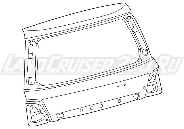 Крышка багажника Toyota Land Cruiser 200 (2016-2019) 67005-60K21