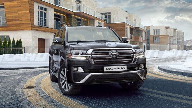 Решетка радиатора Executive Black Toyota Land Cruiser 200 (2016-2021)