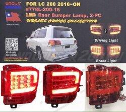Фонари в задний бампер Toyota Land Cruiser 200 (2016-2019) LED