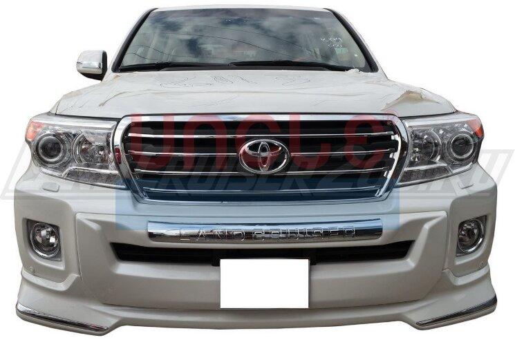 Накладка переднего бампера Toyota Land Cruiser 200 (2012-2015)