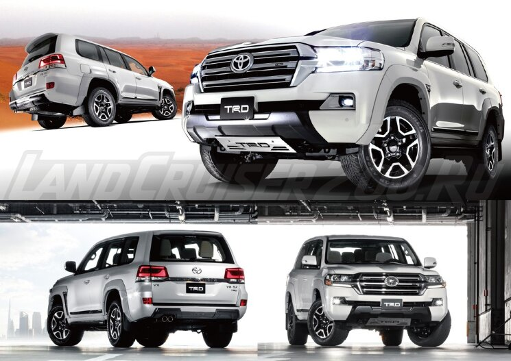 Обвес TRD Toyota Land Cruiser 200 (2016-2021) полный комплект