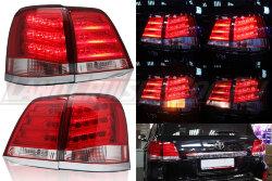 Стоп-сигналы Toyota Land Cruiser 200 (2007-2015) в стиле Lexus LX