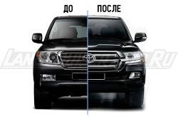 Рестайлинг Toyota Land Cruiser 200 Executive Black & White