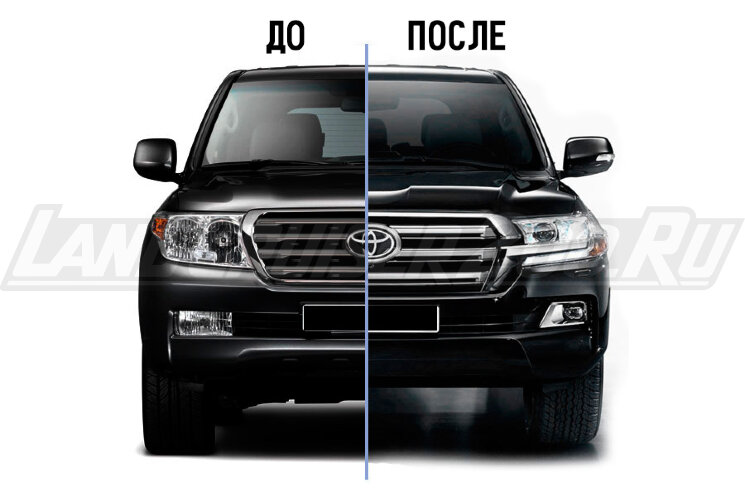 Рестайлинг Toyota Land Cruiser 200 Executive Black & White