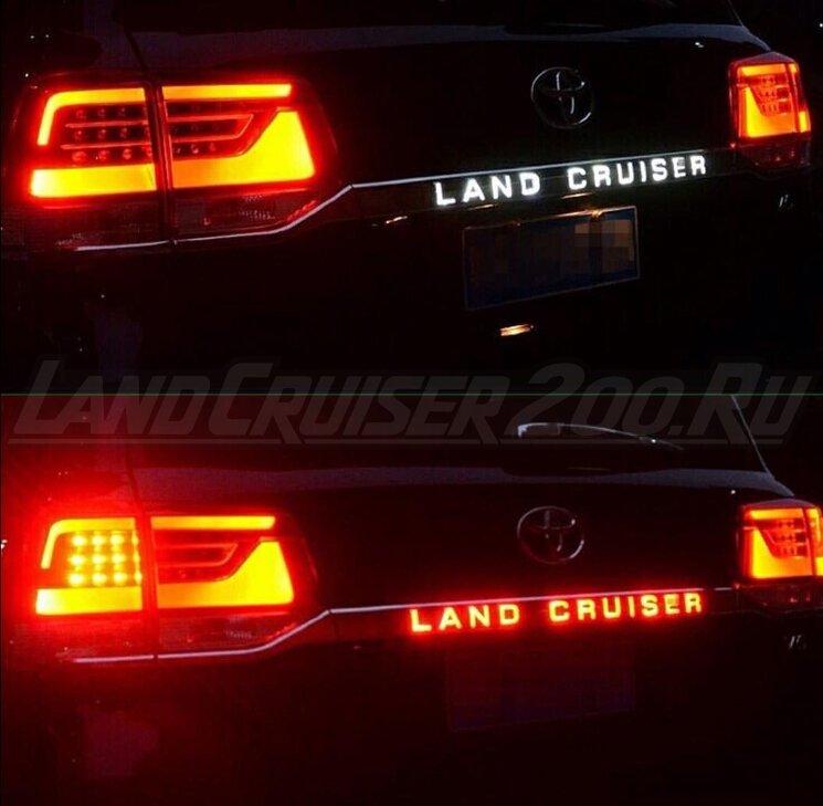 Накладка (планка) Led на заднюю дверь Land Cruiser 200 (2016-2021)