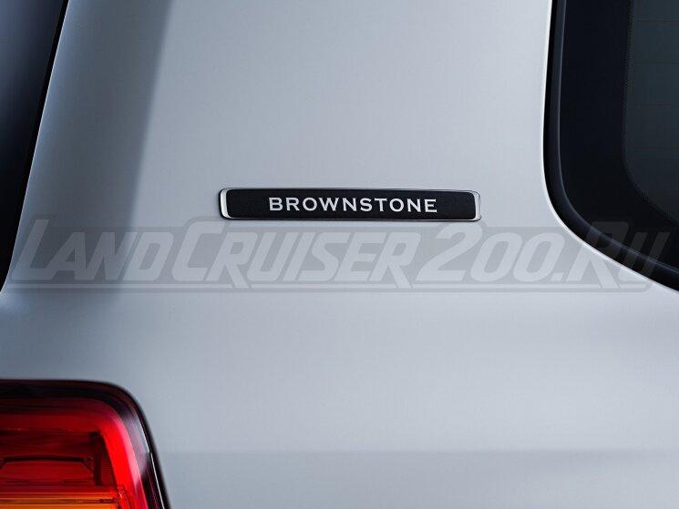 Эмблема Brownstone на Toyota Land Cruiser 200