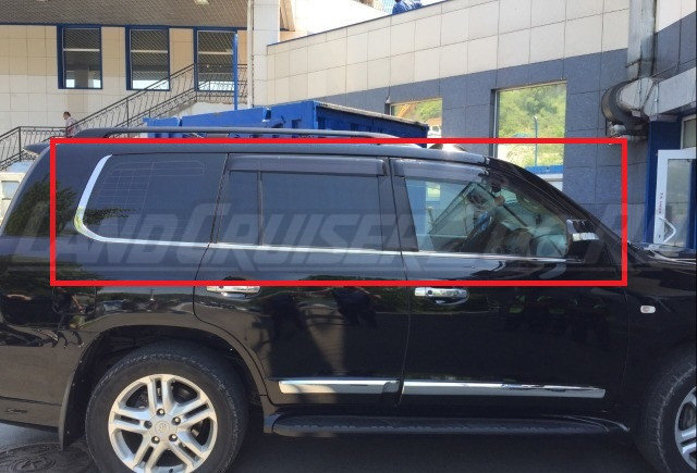 Молдинги на окна Land Cruiser 200 в стиле Lexus