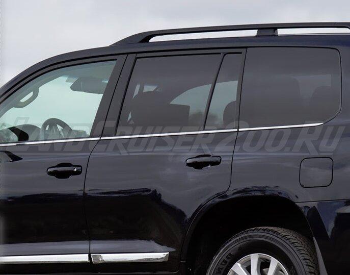 Молдинги на боковые окна Land Cruiser 200 (2007-2019)