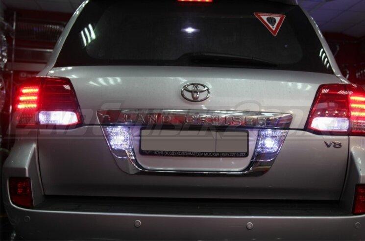 Рамка под задний номер с подсветкой Land Cruiser 200 (2007-2015)
