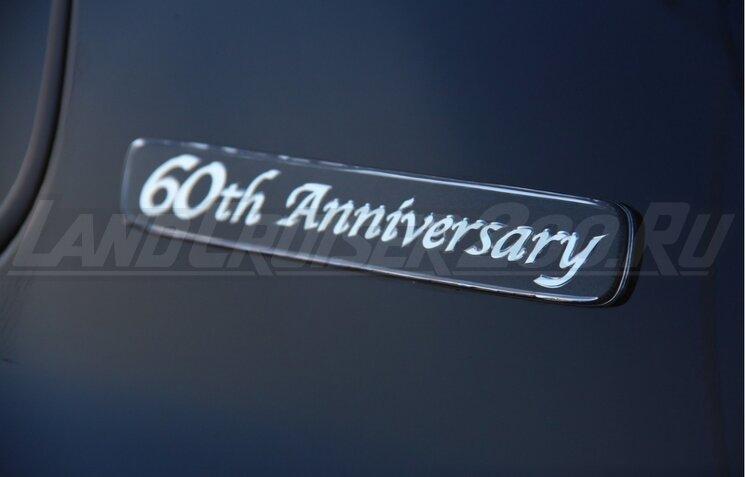 Эмблема 60th Anniversary на Toyota Land Cruiser 200