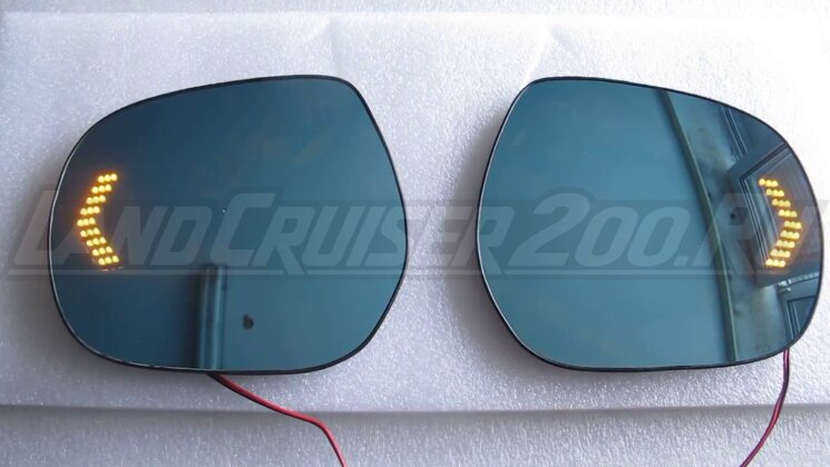 Полотна зеркал Toyota Land Cruiser 200 (2007-2021)