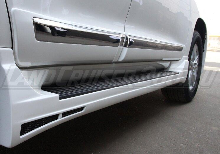 Молдинги дверей для Land Cruiser 200 (2007-2015) широкие