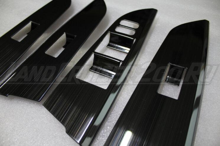 Накладки на стеклоподъемники Toyota Land Cruiser 200 (2007-2021)